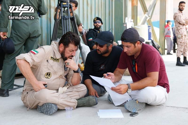 حسین افشار تهیه کننده مسابقه فرمانده و حاج محمد ناظری در پشت صحنه سری سوم