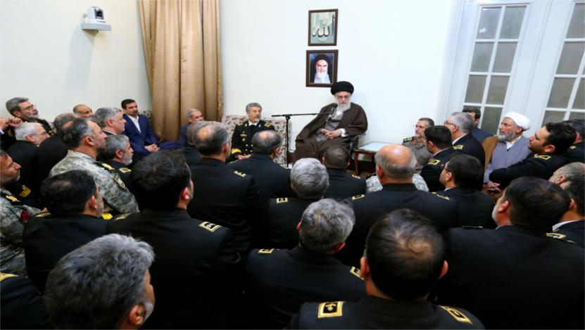 دیدار جمعی از مسئولان نیروی دریایی ارتش با رهبر انقلاب