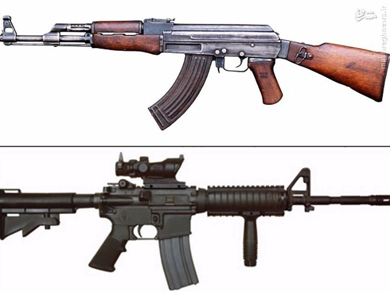 فاوت بین نوع طراحی قنداق در AK-47 و M-4