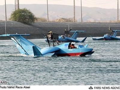 ایران از اولین قایق پرنده بدون سرنشین خود رونمایی کرد