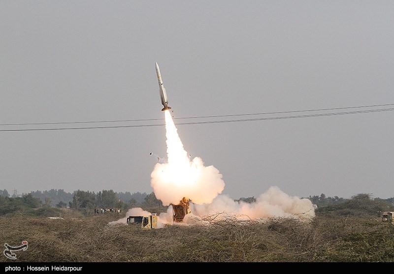تست سامانه موشکی تلاش در رزمایش مشترک پدافند هوایی