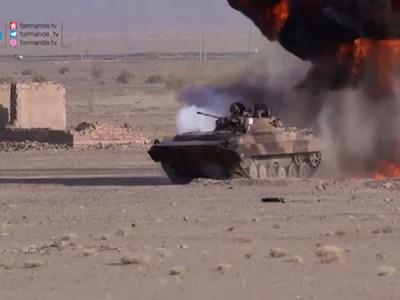 رانندگی تانک در سری چهارم فرمانده